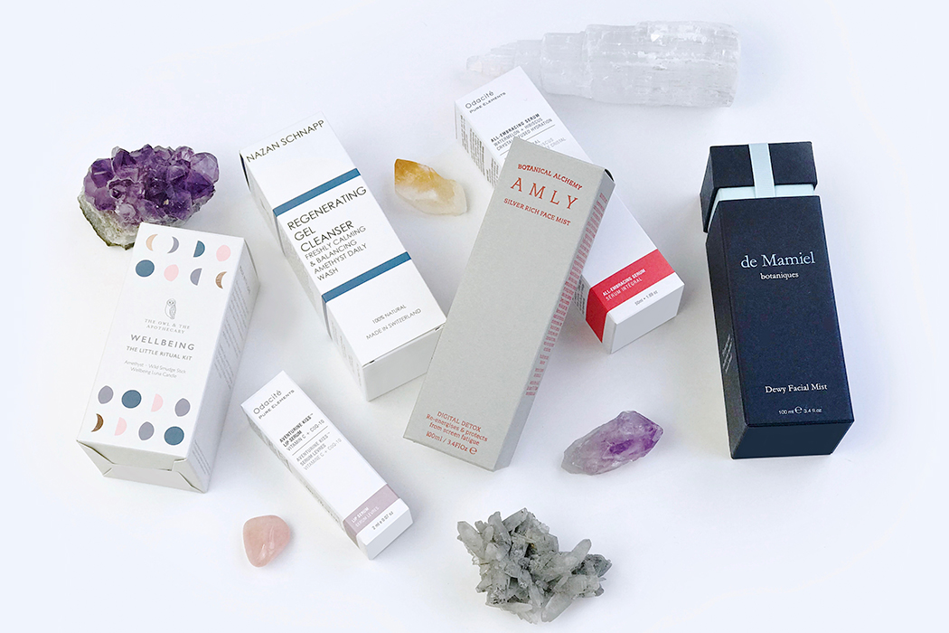 crystal infused skincare