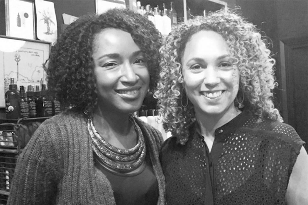 Blogger Lynda hosts an evening on organic makeup for black skin at UK organic shop CONTENT Beauty with Bouclème founder Michele Scott-Lynch