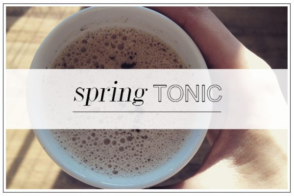 GET THE RECIPE: Uplifting Spring Hot Tonic from Sweetly Simple