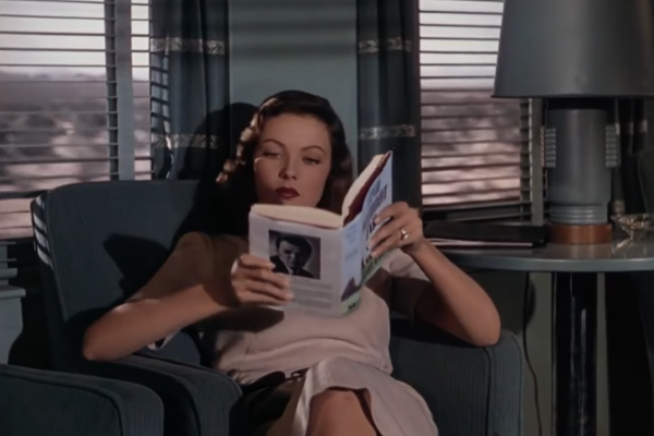 gene tierney leave her to heaven reading