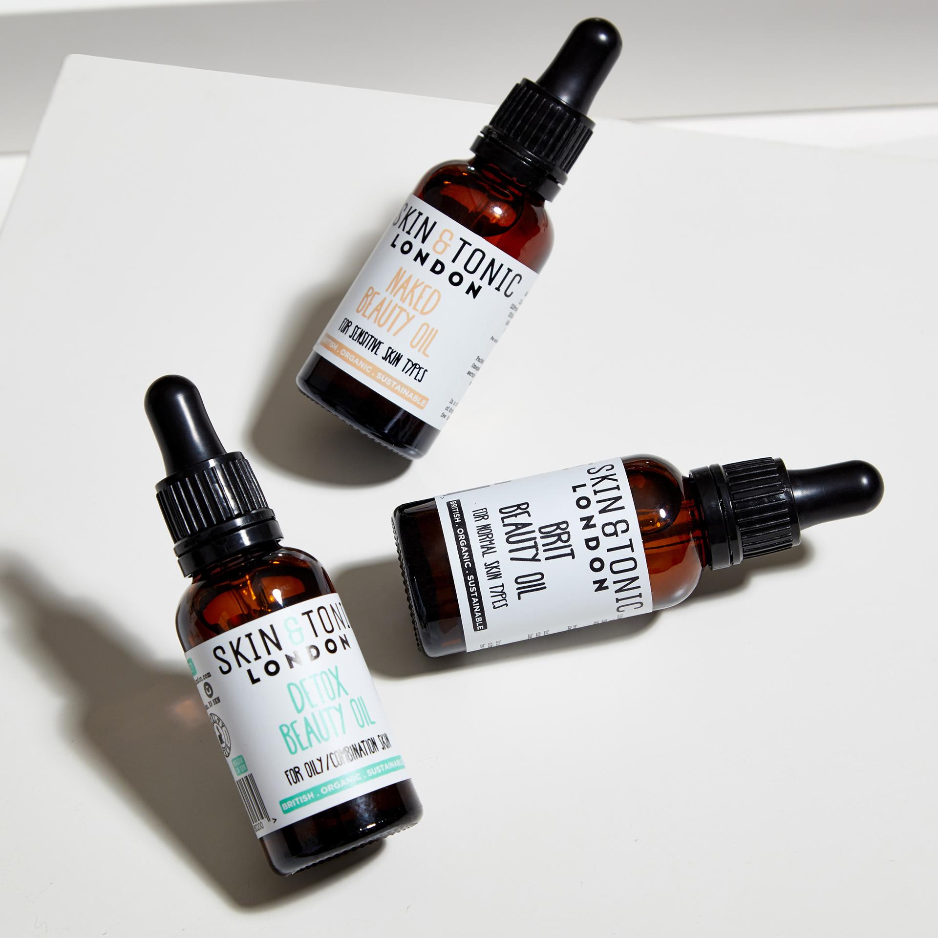 ORGANIC FACIAL OILS skin & tonic natural skincare London vegan skincare organic beauty store