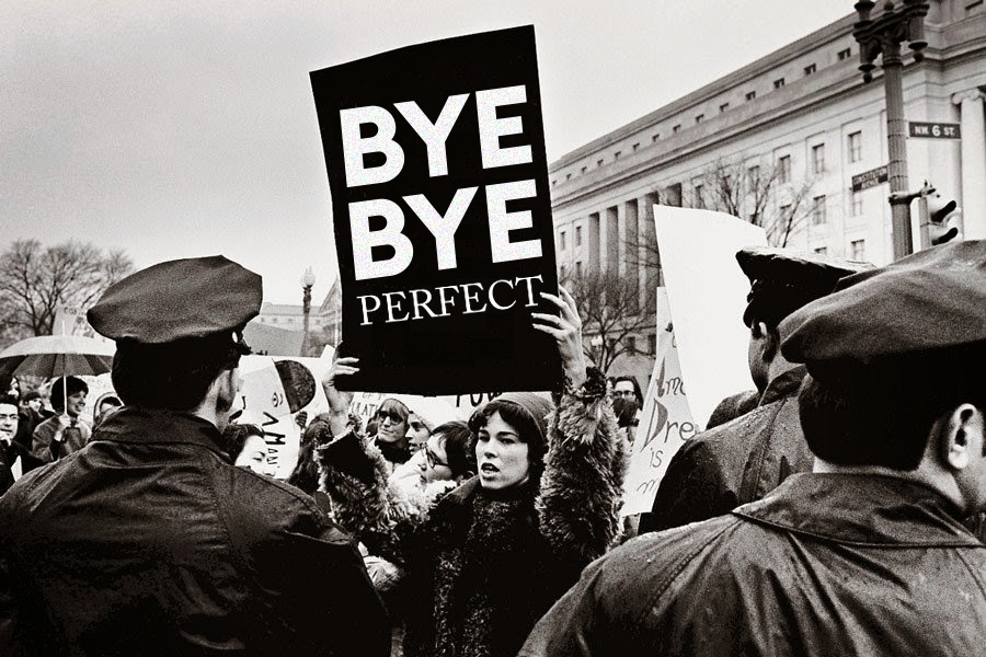 Bye Bye Perfect protest sign_NEW