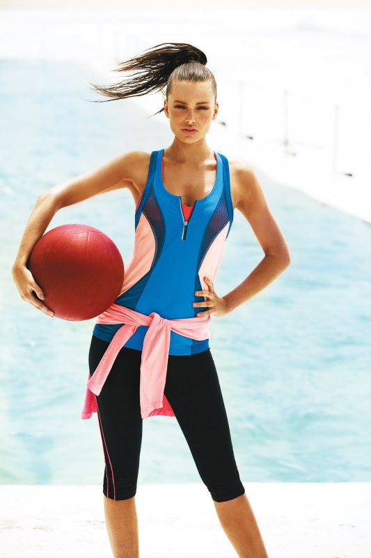 Lustre Sports Bra ($65.99); Aphrodite Excel Tank ($69.99); Maxed Out Hoodie Zip Through ($89.99); Don't Wait 3-4 Tight ($87.99)